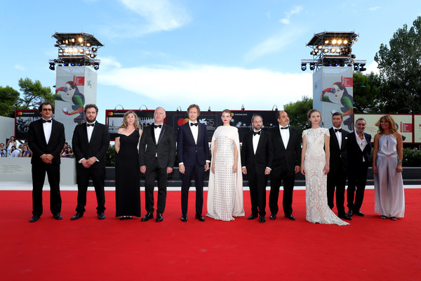 0991 Vlad Ivanov_ Evelin Dobos_ Laszlo Nemes and Juli Jakab and cast walk the red carpet ahead of the _Napszallta (Sunset)_ screening during the 75th Venice Film Festival