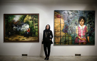 See Paintings by Shokoufeh Karimi in White Line Gallery