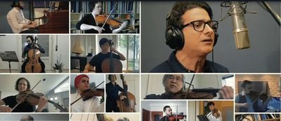 """Tehran orchestra, world-renowned musicians team up to remake """"Morghe Sahar"""""""