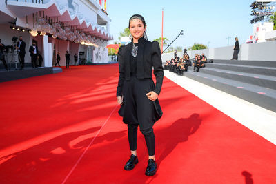 08 Shamila Shirzad walks the red carpet ahead of the movie Khorshid (Sun Children) at the 77th Venice Film Festival on September 06_ 2020 in Venice_ Italy5