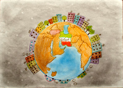 Iranian Children From Flood-hit Regions Competing in Barbara Petchenik Map Contest