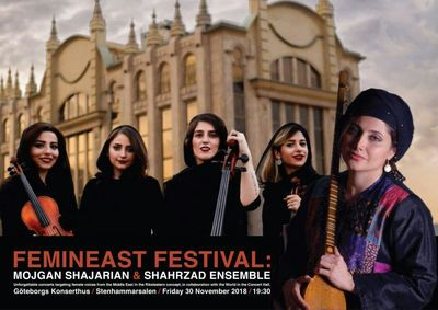 Mojgan Shajarian joins Shahrzad at Gothenburg FeminEast Festival