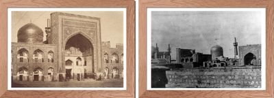 Images of Imam Reza's mausoleum from Qajar times