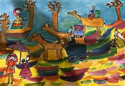 Shanghai Art Collection Museum displays paintings by Iranian children