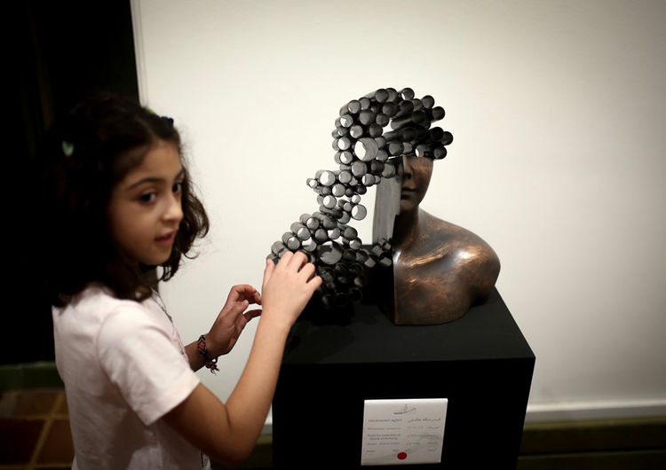 See Sculptures by Ghodratollah Agheli in Art Center Gallery