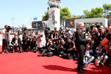 0991 David Cronenberg walks the red carpet ahead of the M Butterfly And Lifetime Achievement Award To David Cronenberg ceremony during the 75th Venice Film Festival