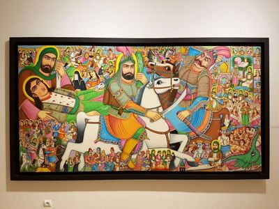 Iranian artist says teahouse paintings appeal to foreign tourists